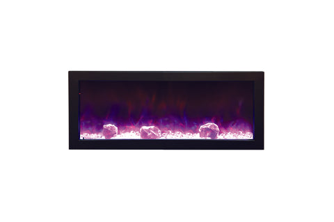 Amantii Panorama 40 inch Slim Built-in Electric Fireplace – Heater - Electric Fireplaces Depot