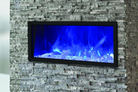 Amantii Panorama 40 inch Slim Built-in Electric Fireplace – Heater – BI-40-SLIM-OD – Electric Fireplaces Depot