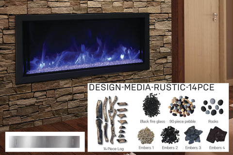 Amantii Panorama 50-in Deep Tall Built-in Electric Fireplace - Heater - BI-50-DEEP-XT - Electric Fireplaces Depot