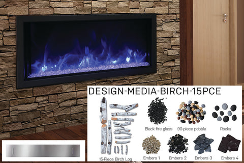 Image of Amantii Panorama 50-in Deep Tall Built-in Electric Fireplace - Heater - BI-50-DEEP-XT - Electric Fireplaces Depot