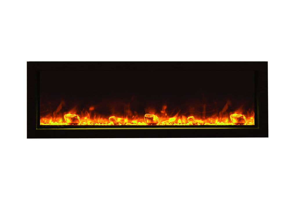 Amantii Panorama 50 inch Slim Built-in Electric Fireplace - Heater - BI-50-SLIM-OD - Electric Fireplaces Depot