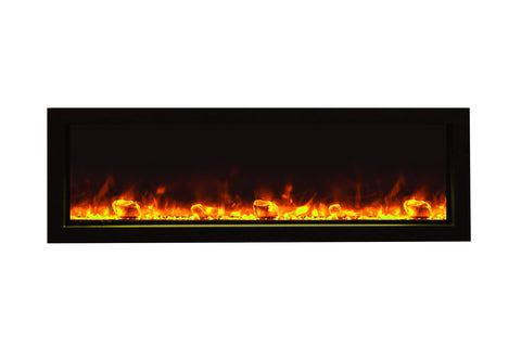 Image of Amantii Panorama 50 inch Slim Built-in Electric Fireplace - Heater - BI-50-SLIM-OD - Electric Fireplaces Depot