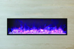 Amantii Panorama 50 inch Slim Built-in Electric Fireplace – Heater - Electric Fireplaces Depot