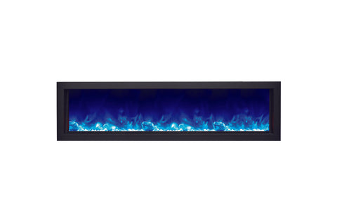 Amantii Panorama 60 inch Deep Built-in Electric Fireplace – Heater - Electric Fireplaces Depot