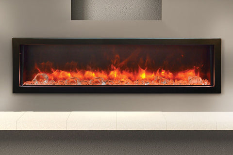 Image of Amantii Panorama 60 inch Deep Built-in Electric Fireplace – Heater – BI-60-DEEP-OD – Electric Fireplaces Depot