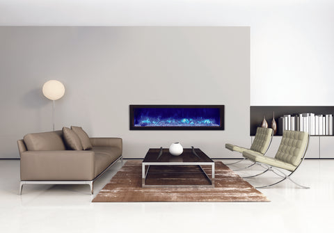 Amantii Panorama 60 inch Slim Built-in Electric Fireplace – Heater - Electric Fireplaces Depot