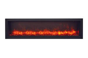Amantii Panorama 60-inch Slim Built-in Indoor/Outdoor Linear Electric Fireplace