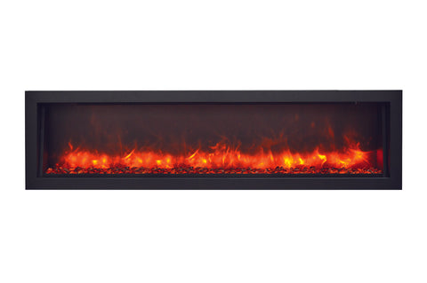 Amantii Panorama 60 inch Slim Built-in Electric Fireplace - Heater - BI-60-SLIM-OD - Electric Fireplaces Depot