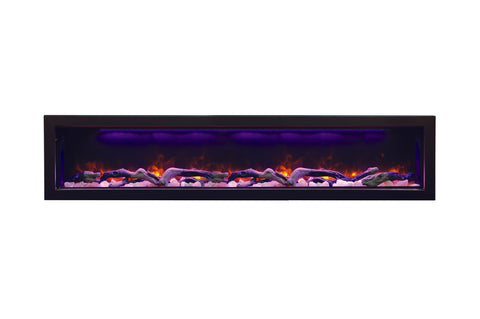 Amantii Panorama 72 inch Deep Built-in Electric Fireplace – Heater - Electric Fireplaces Depot