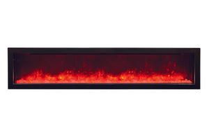 Amantii Panorama 72-inch Slim Built-in Indoor/Outdoor Electric Fireplace