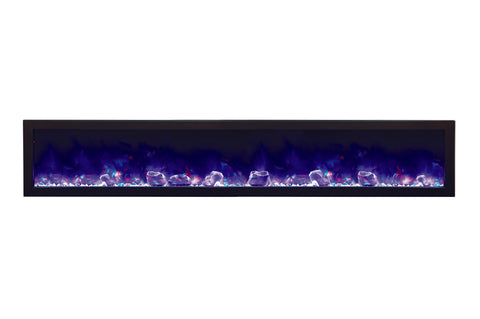 Amantii Panorama 88 inch Deep Built-in Electric Fireplace – Heater - Electric Fireplaces Depot