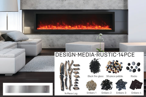 Image of Amantii Panorama 88-in Deep Tall Built-in Electric Fireplace - Heater - Electric Fireplaces Depot