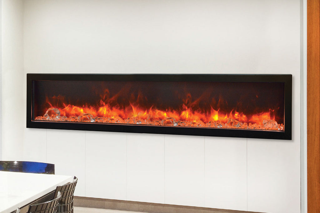 Amantii Panorama 88 inch Deep Built-in Electric Fireplace – Heater – BI-88-DEEP-OD – Electric Fireplaces Depot