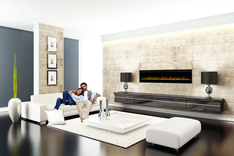 Image of Dimplex Prism 74 inch Wall-Mount Linear Electric Fireplace - Heater - BLF7451 - Electric Fireplaces Depot