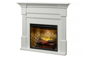 Christina BuiltRite Electric Fireplace Mantel Package White | Electric Fireplace Cabinet | BM3033-1801W | Dimplex