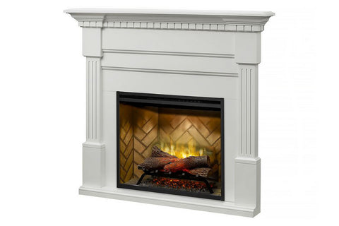 Image of Christina BuiltRite Electric Fireplace Mantel Package White | Electric Fireplace Cabinet | BM3033-1801W | Dimplex
