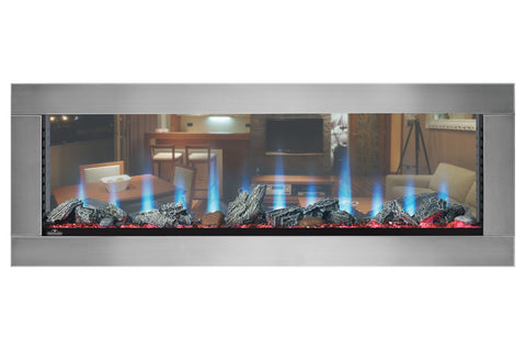 Image of Napoleon Clearion 50 inch See Through Built in Electric Fireplace - Heater - NEFBD50HE - NEFBD50H - Electric Fireplaces Depot