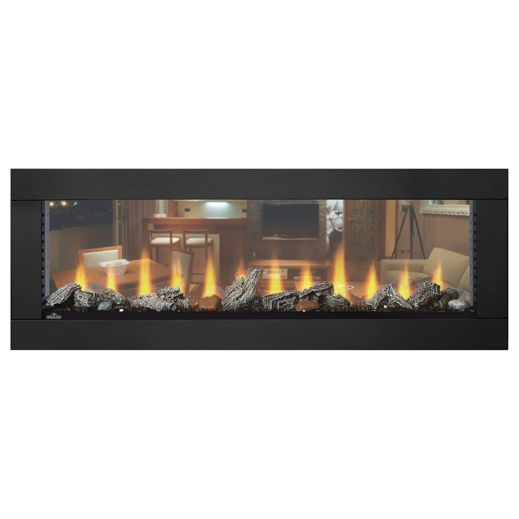 Napoleon Clearion 50 inch See Through Built in Electric Fireplace - Heater - NEFBD50HE - NEFBD50H Electric Fireplaces Depot