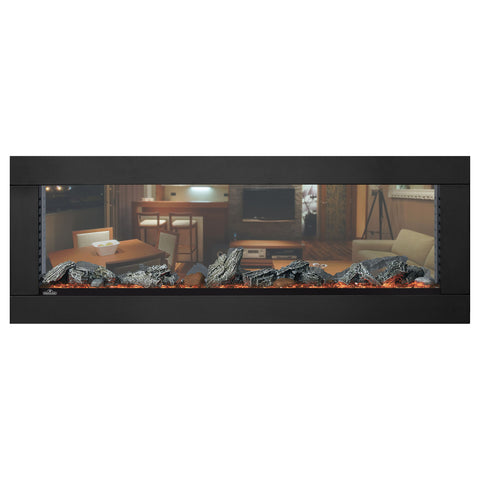 Napoleon Clearion Elite 60 inch See Through Built in Electric Fireplace | SeeThru Insert | Heater | NEFBD60HE | Electric Fireplaces Depot