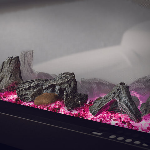 Napoleon Clearion 50 inch See Through Built in Electric Fireplace - Heater - NEFBD50HE - NEFBD50H - Electric Fireplaces Depot