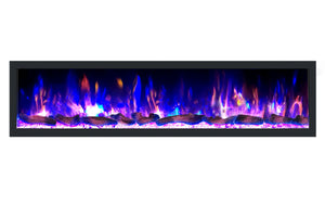 Dynasty Cascade 74'' Recessed Linear Electric Fireplace - BTX Series