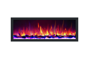 Dynasty Cascade 64'' Recessed Linear Electric Fireplace - BTX Series