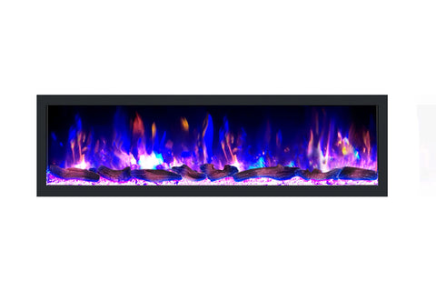 Image of Dynasty Cascade 64 Inch Recessed Linear Electric Fireplace | Wall Mount Electric Fireplace | DY-BTX64 | Electric Fireplaces Depot