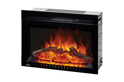 Image of Napoleon Cinema 24 inch Electric Fireplace Insert - Log Series - Firebox Insert - Heater - NEFB24H-3A - Electric Fireplaces Depot