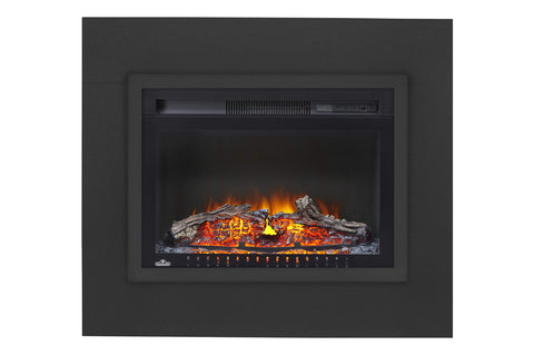 Napoleon Cinema 24 inch Electric Fireplace Insert x/ Trim Kit - Log Series - Firebox Insert - Heater - NEFB24H-3A - Electric Fireplaces Depot