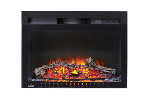 Napoleon Cinema 24 inch Electric Fireplace Insert - Log Series - Firebox Insert - Heater - NEFB24H-3A - Electric Fireplaces Depot