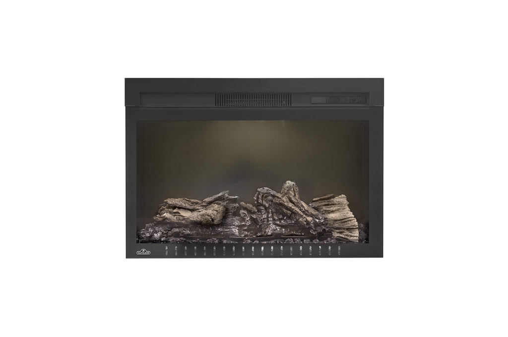 Napoleon Cinema 27 Inch Electric Fireplace Insert - Log Series - Firebox Insert - Heater - NEFB27H-3A - Electric Fireplaces Depot