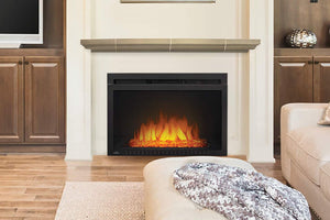 Napoleon Cinema 29 inch Electric Fireplace Insert - Glass Series - Firebox Insert - Heater - NEFB29HG-3A - Electric Fireplaces Depot
