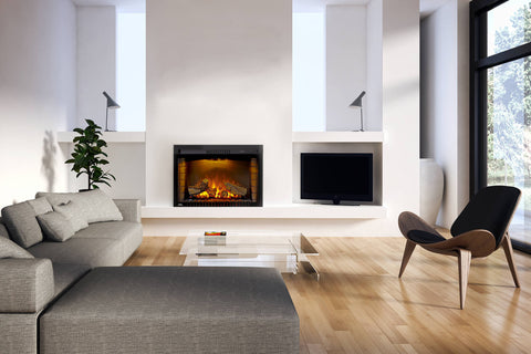 Image of Napoleon Cinema 29 Inch Electric Fireplace Insert - Log Series - Firebox Insert - Heater - NEFB29H-3A - Electric Fireplaces Depot