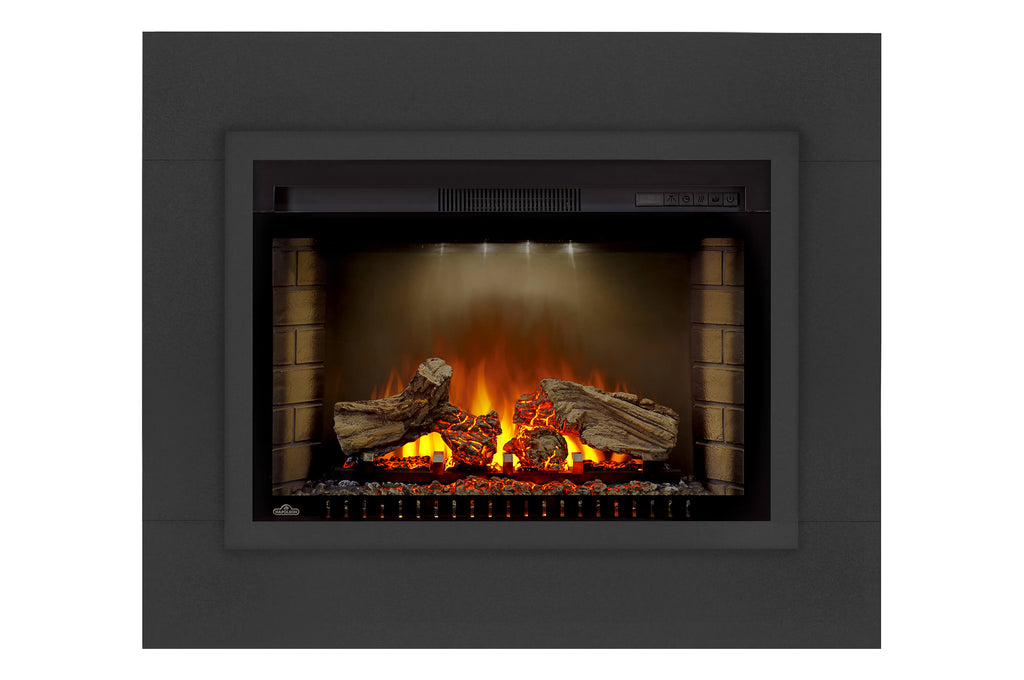 Napoleon Cinema 29 Inch Electric Fireplace Insert w/ Trim Kit - Log Series - Firebox Insert - Heater - NEFB29H-3A - Electric Fireplaces Depot
