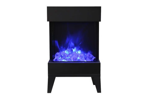 Image of Amantii 2025WM Cube 3-Sided View Built In Electric Fireplace - Heater - CUBE-2025WM - Electric Fireplaces Depot