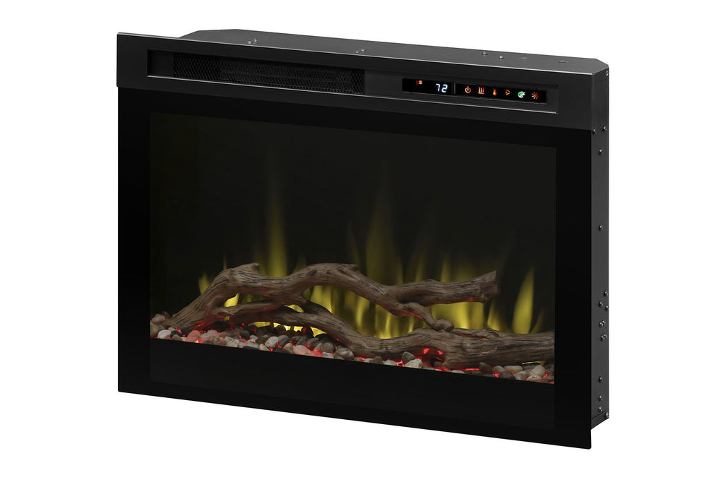 Dimplex DF Series 26 Multi-Fire XHD Plug-In Electric Firebox Insert | Acrylic Ice | Driftwood | River Rocks | DF26DWC-PRO | Electric Fireplaces Depot