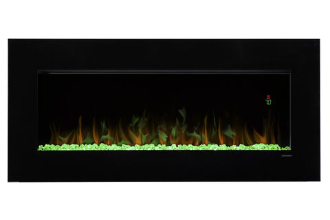 "Image of Dimplex Nicole 43"" Wall-Mount Electric Fireplace"