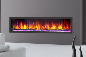 Dynasty Cascade 74 Inch Recessed Linear Electric Fireplace | DY-BTX74 | Electric Fireplaces Depot