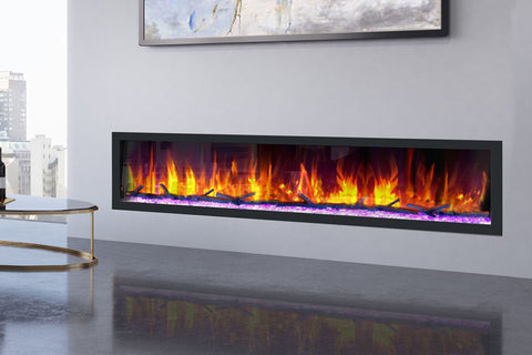 Image of Dynasty Cascade 82 Inch Recessed Linear Electric Fireplace | DY-BTX82 | Electric Fireplaces Depot