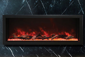 Amantii Panorama 60-in Deep Tall Built-in Electric Fireplace - Heater - BI-60-DEEP-XT - Electric Fireplaces Depot