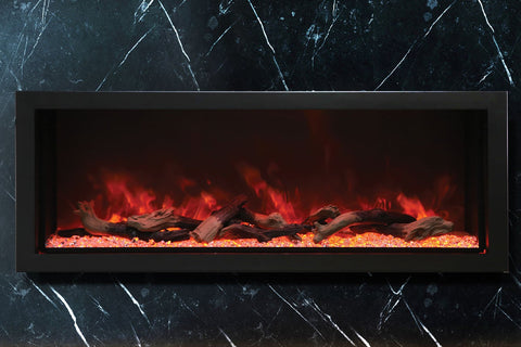 Image of Amantii Panorama 50-in Deep Tall Built-in Electric Fireplace - Heater - Electric Fireplaces Depot