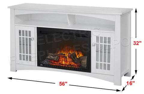 Image of Napoleon Adele Electric Fireplace Mantel Media Console - White Finish - NEFP27-0815W - Electric Freplaces Depot
