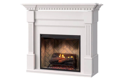 Image of Christina BuiltRite Electric Fireplace Mantel Package White | Electric Fireplace Cabinet | BM3033-1801W | Dimplex | Electric Fireplaces Depot