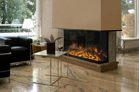 Electric Modern Evonicfires 60-inch Built-In 3-sided Electric Fireplace | E1560  | Electric Fireplaces Depot