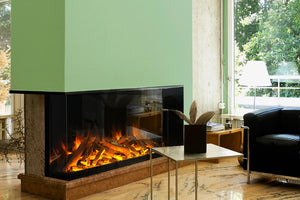 Electric Modern Evonicfires 60'' Built-In 3-sided Electric Fireplace - E1560