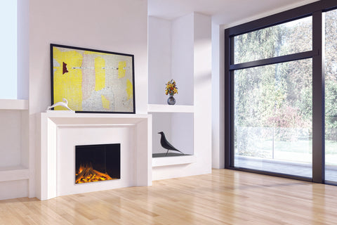 Electric Modern EvonicFires 32 Inch Built-In Electric Fireplace | Electric Firebox | E32 H | Electric Fireplaces Depot