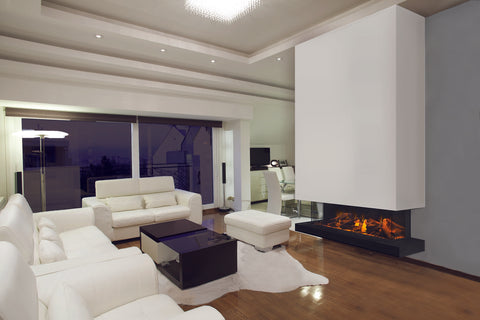 Image of Electric Modern Evonicfires 60 Inch Built-In 3-sided Electric Fireplace - ESER-60-3S - Electric Fireplaces Depot