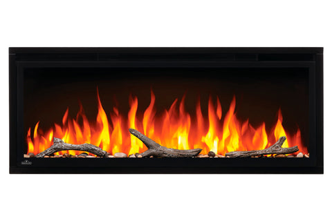 Image of Napoleon Entice 42 inch Wall Mount Recessed Linear Electric Fireplace | Built in Electric Insert | NEFL42CFH | Electric Fireplaces Depot