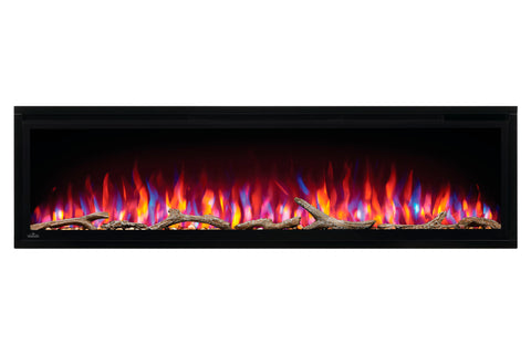 Image of Napoleon Entice 60 inch Wall Mount Recessed Linear Electric Fireplace | Built in Electric Insert | NEFL60CFH | Electric Fireplaces Depot