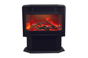 Sierra Flame 26-inch Freestanding Electric Fireplace w/ 11-pce Log Set
